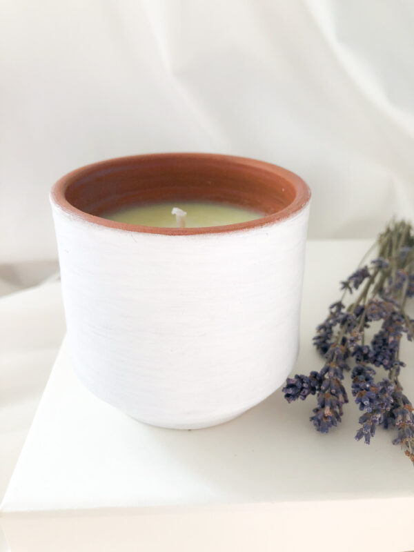 Lumânare masaj cu ulei esențial lavandă